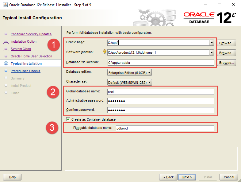 Install Oracle Database - Step 5