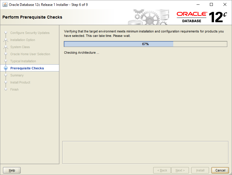 Install Oracle Database - Step 6