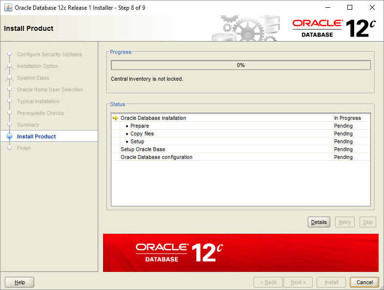 Install Oracle Database - Step 8