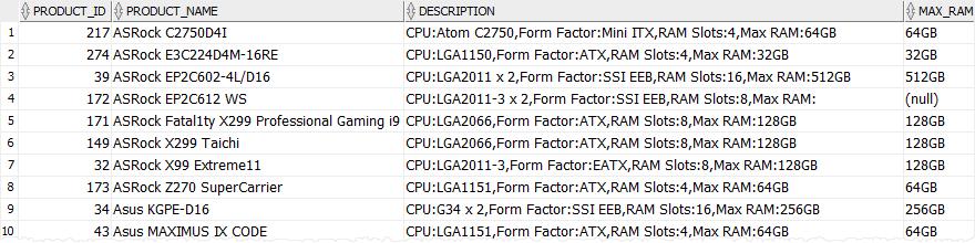Oracle REGEXP_SUBSTR