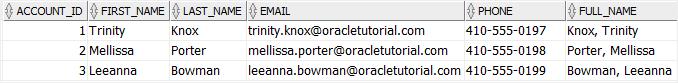 Oracle ALTER TABLE MODIFY Column - modify virtual column example