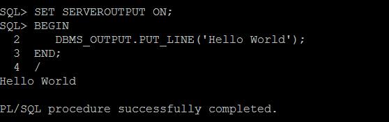 PL/SQL anonymous block example