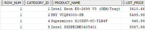 Oracle ROW_NUMBER for top-N query