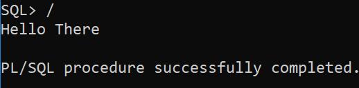 plsql anonymous block - execute